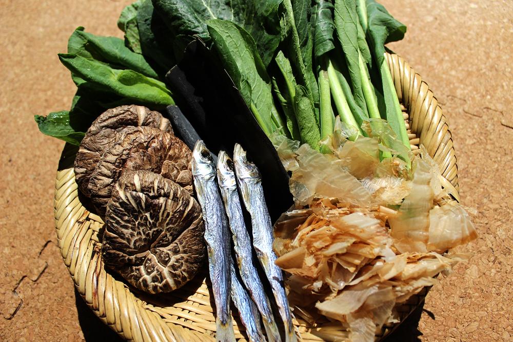 干し椎茸 海産物 青菜