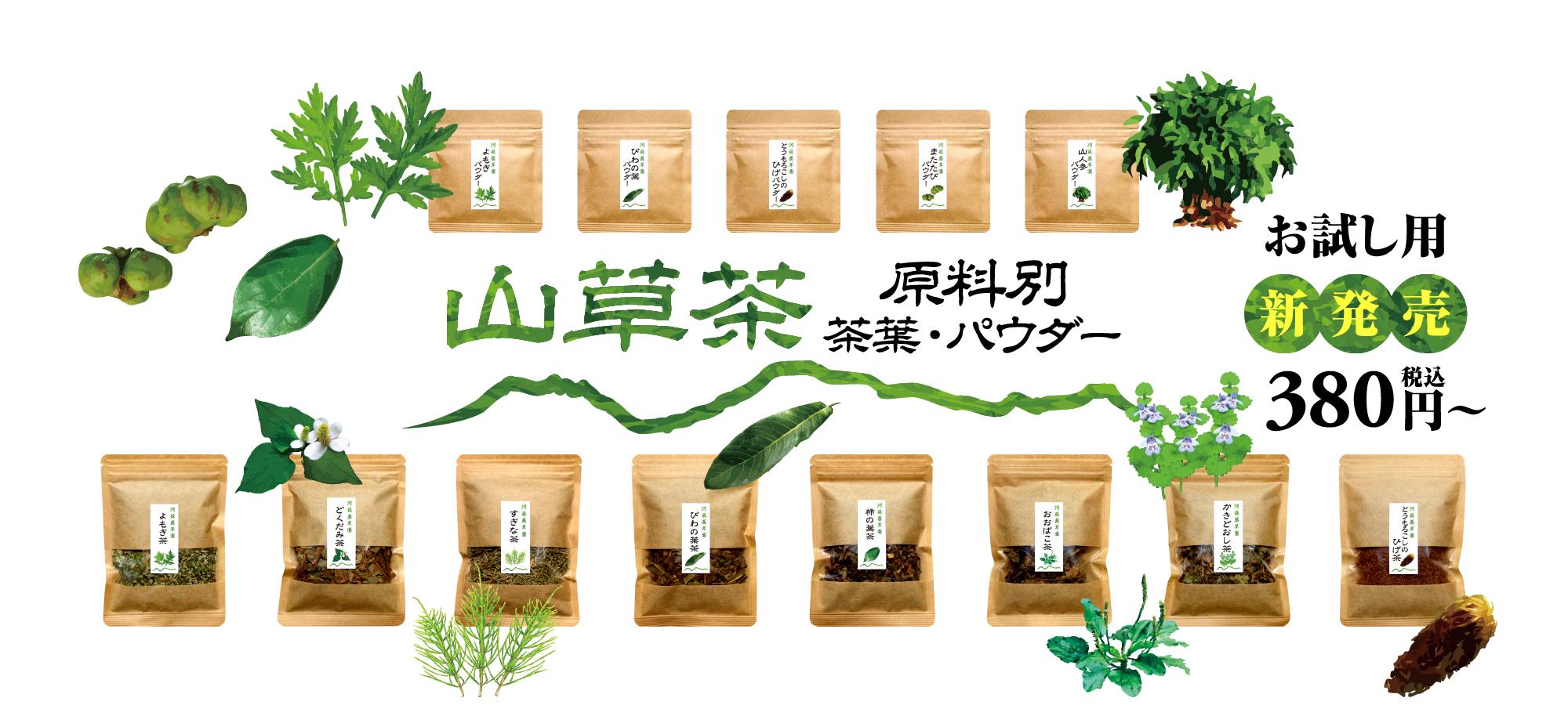 山草茶(原料別)茶葉・パウダー お試し用